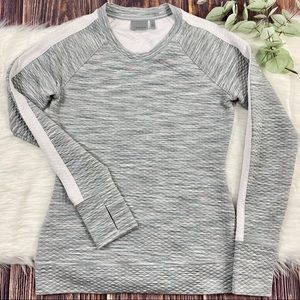 Athleta Sweatshirt Snowscape Pullover Sz XS GUC